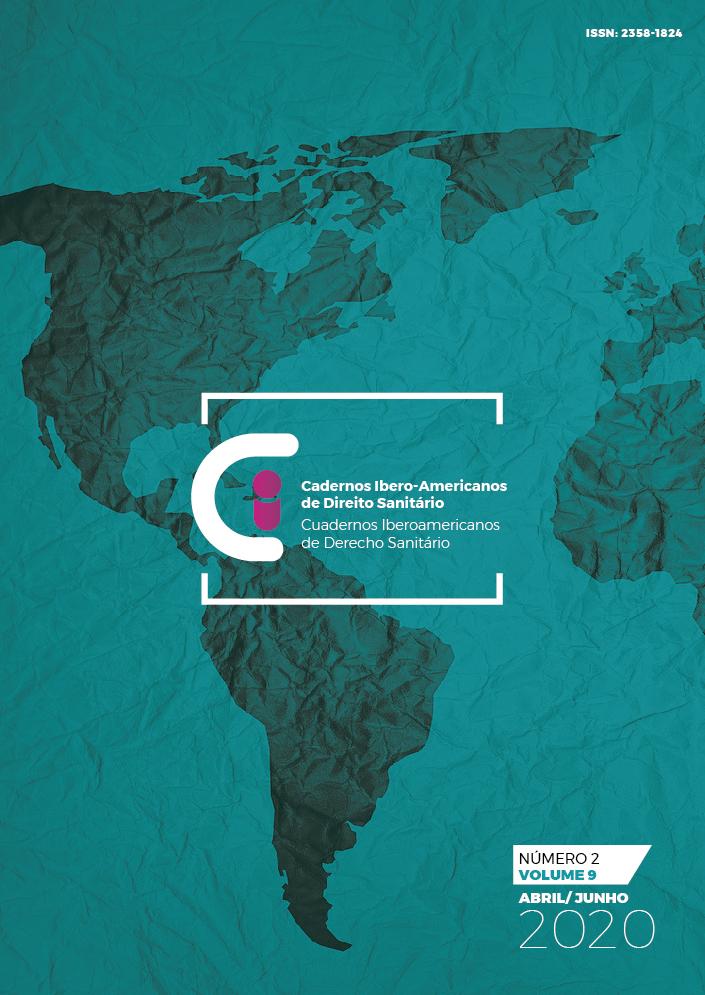 Capa Cadernos Ibero-Americanos de Direito Sanitário v.9 n.2