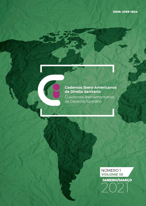 Capa Cadernos Ibero-Americanos de Direito Sanitário v.10 n.1